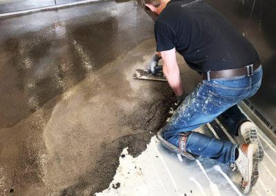 Bodenstudio Spezialarbeiten Epoxy spachteln
