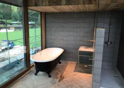 Badezimmer Böden bei Hotel Eder Sepp