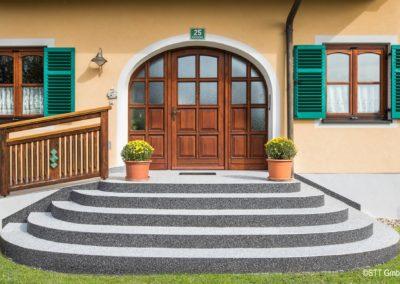 Steinteppich als Außenstiegenbelag