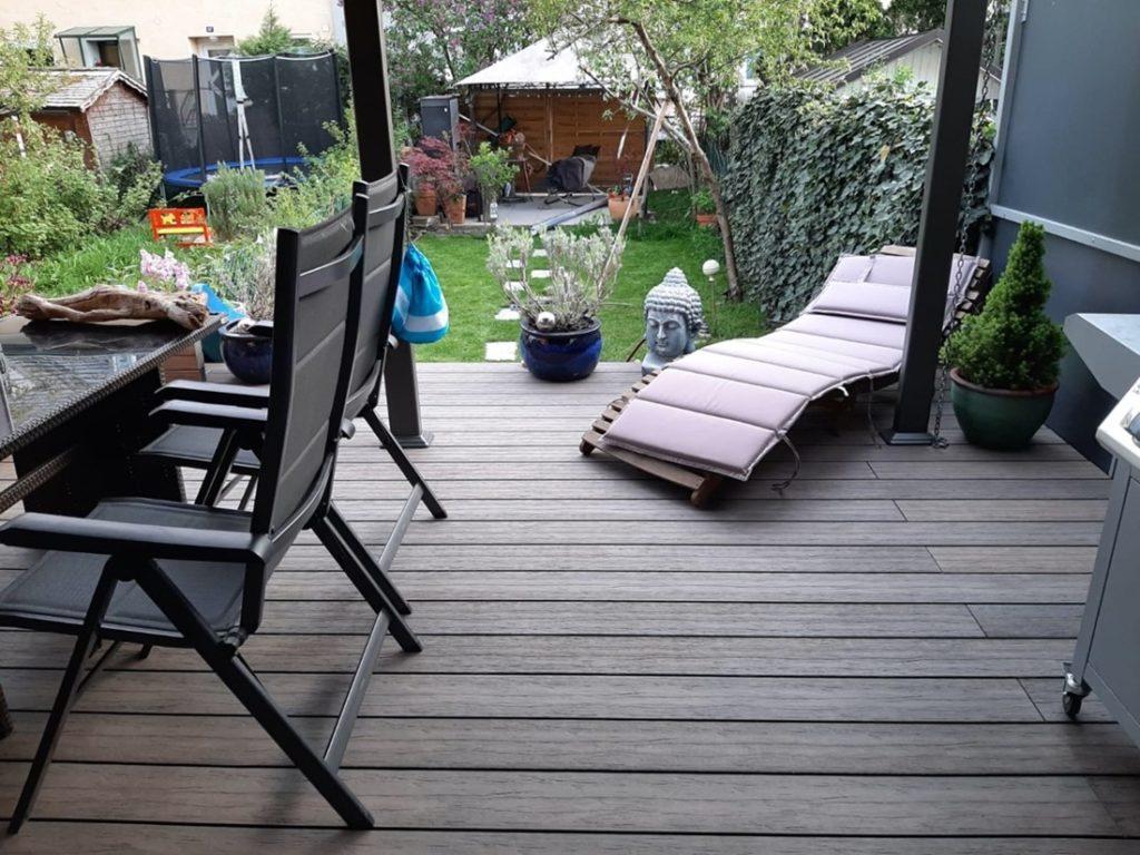 Terrasse aus WPC Dielen