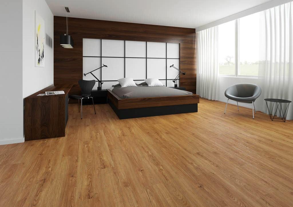 Vinylboden ist feuchtigkeitsabweisend, widerstandsfähig und geräuscharm.